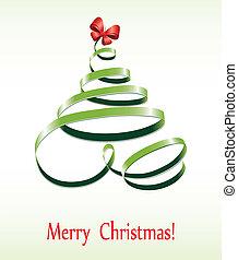 El árbol de la cinta de Navidad