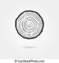El árbol negro suena a icono con sombra