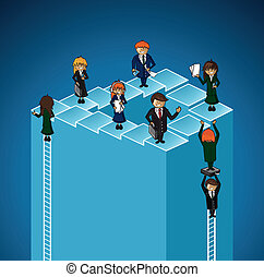 El éxito del grupo de trabajo de negocios es de gente.