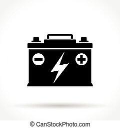 El ícono de la batería del coche