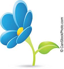 El ícono de la flor azul