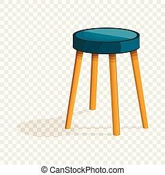 El ícono de la silla de cocina, estilo de dibujos animados
