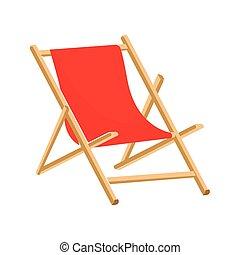 El ícono de la silla de playa