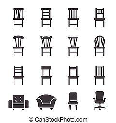 El ícono de la silla