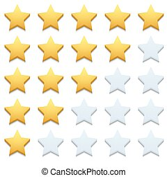 El ícono de las estrellas modernas Vector puso el blanco