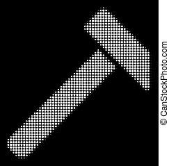 El ícono de martillo medio blanco
