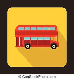 El ícono del autobús rojo de Londres