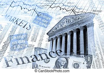 El índice de acciones de NYSE y la mesa de cambio