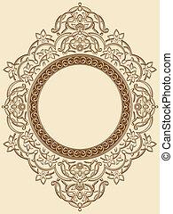 El adorno del círculo floral
