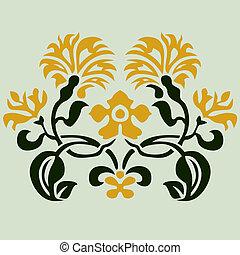 El adorno floral del vector