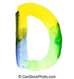 El alfabeto acuarela