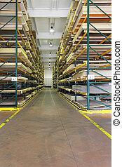 El almacén de materiales de construcción