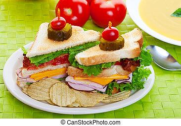 El almuerzo de Sandwich