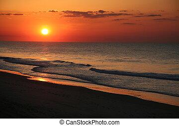 El amanecer de la costa este