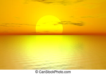 El amanecer dorado