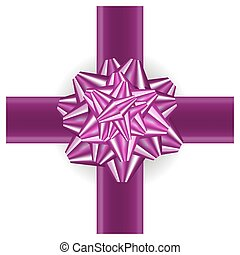 El arco de regalo rosado está aislado