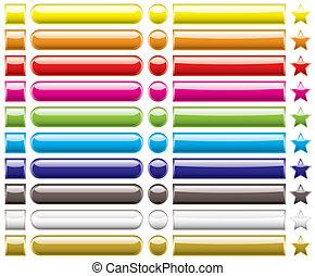 El arco iris de la colección de botones
