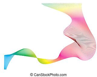 El arco iris de olas