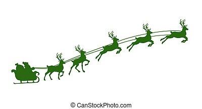 El arnés de renos de Navidad