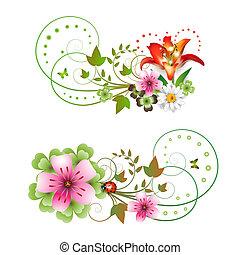 El arreglo de las flores