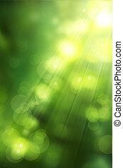El arte abstracto de la naturaleza es verde primavera