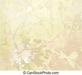 El arte de las flores de Pastel en el fondo de papel