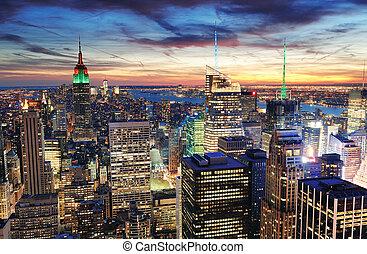El atardecer de Nueva York