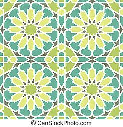 El azulejo estelar islámico