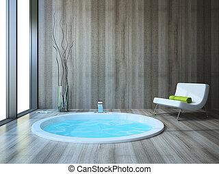 El baño al estilo moderno