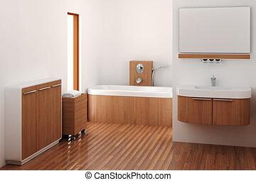 El baño de madera