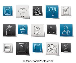 El baño y los objetos del baño