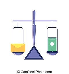 el balancear, smartphone, correo