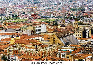 El barrio histórico de La Candelaria en Bogota