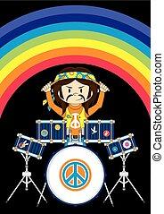 El baterista Hippie, Rainbow