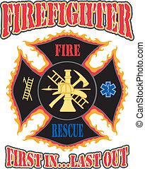 El bombero primero en diseño