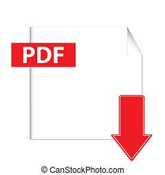 El botón de descarga del vector Pdf