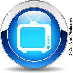 El botón de la TV Vector