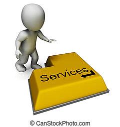 El botón de servicio muestra asistencia o mantenimiento