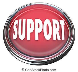 El botón rojo de apoyo consigue respuestas a preguntas