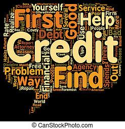 El buen crédito contra el mal texto crediticio el concepto de palabra de fondo