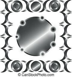 El círculo de metal marca el patrón.