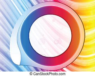 El círculo del arco iris bordea con chispas y remolinos.