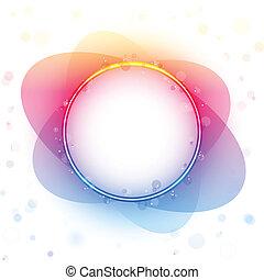 El círculo del arco iris tiene un efecto de transparencia.