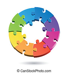 El círculo del rompecabezas