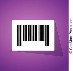 El código de barras aumenta la ilustración del código