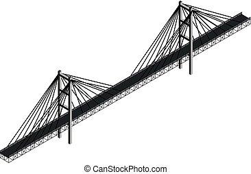 El cable isométrico se quedó en el puente