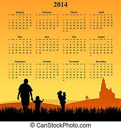 El calendario de 2014 con los jóvenes
