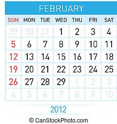 El calendario de febrero