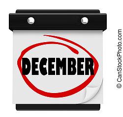 El calendario de la palabra de diciembre cambia la Navidad de invierno