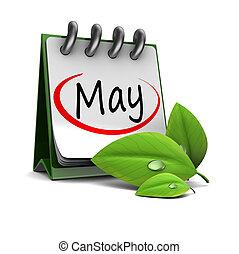 El calendario de mayo